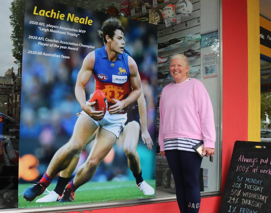 PROUD MUM: Mother of AFL star Lachie Neale, Amanda Taylor is hoping to see Lachie win the Brownlow Medal this Sunday.