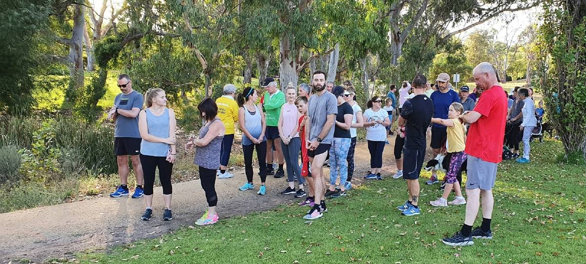 READY, SET, GO: Parkrun Naracoorte participants get ready to start.