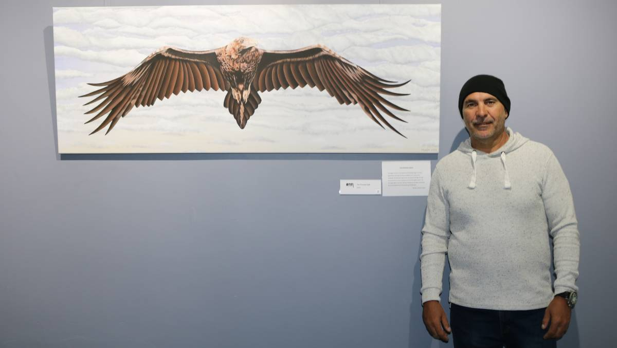 ART: Munda will be exhibiting his artwork until April 21, so be sure to pop in. Photo: ELISABETH CHAMOPION