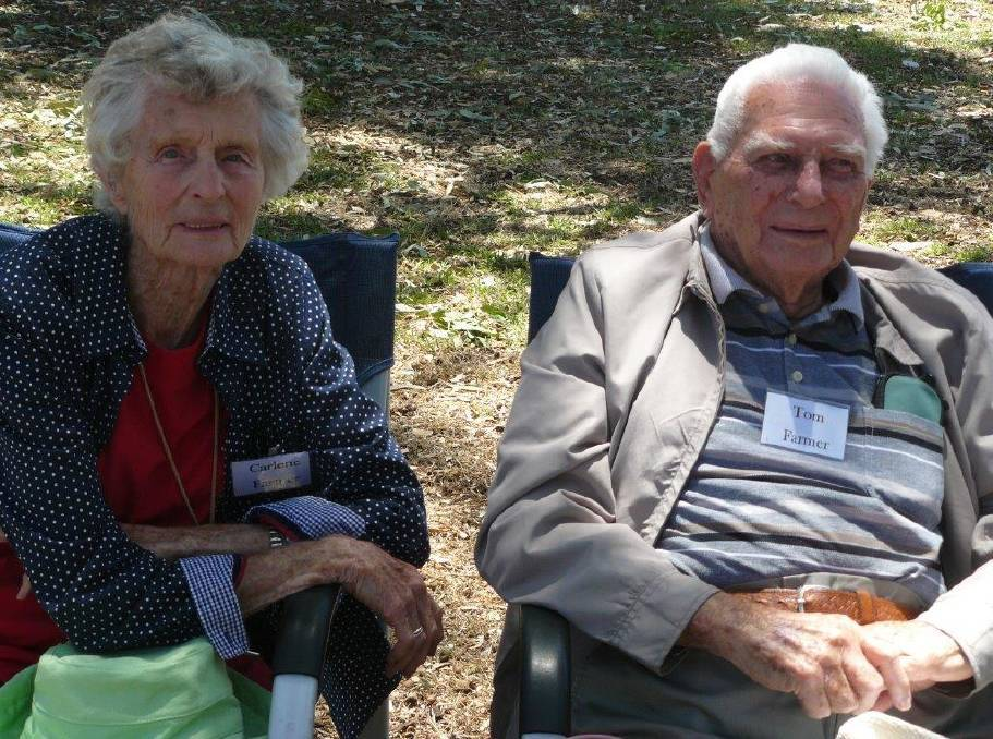 Ex-locals: Carlene and Tom Farmer at the 2017 reunion at Victor Harbor.