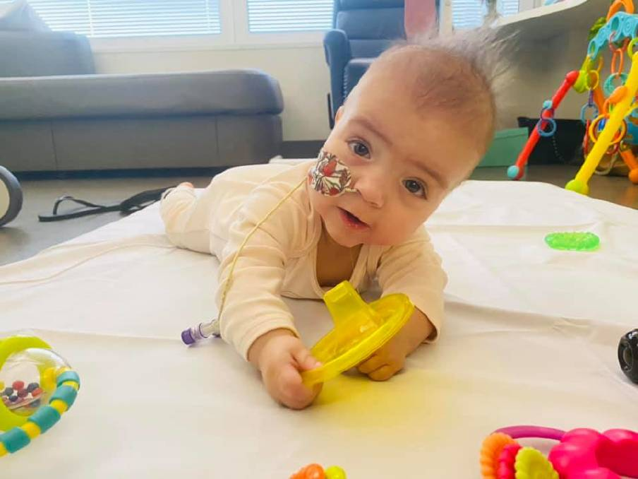 SURGERY: Ten-month-old Willow is waiting to have surgery at the Women's and Children's Hospital in Adelaide. Photo: Emma Bone