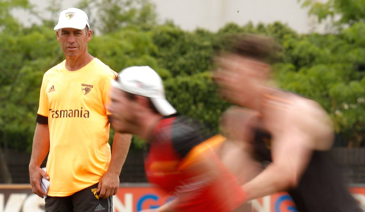 Alastair Clarkson wants the AFL to expand to Tasmania and the Northern Territory. Photo: Michael Willson/AFL Photos via Getty Images